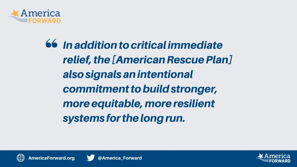 """America Forward Statement on the """"American Rescue Plan"""""""