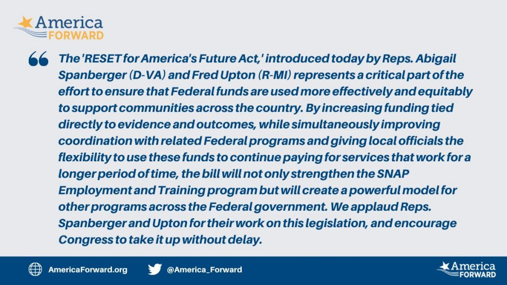 America Forward's Statement on the RESET for America's Future Act
